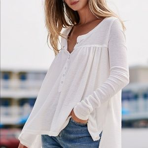 FREE PEOPLE We The Free Kai Henley Tunic Top